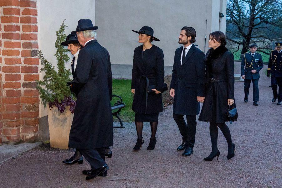 La famille royale de Suède à Rasbo, le 2 décembre 2018
