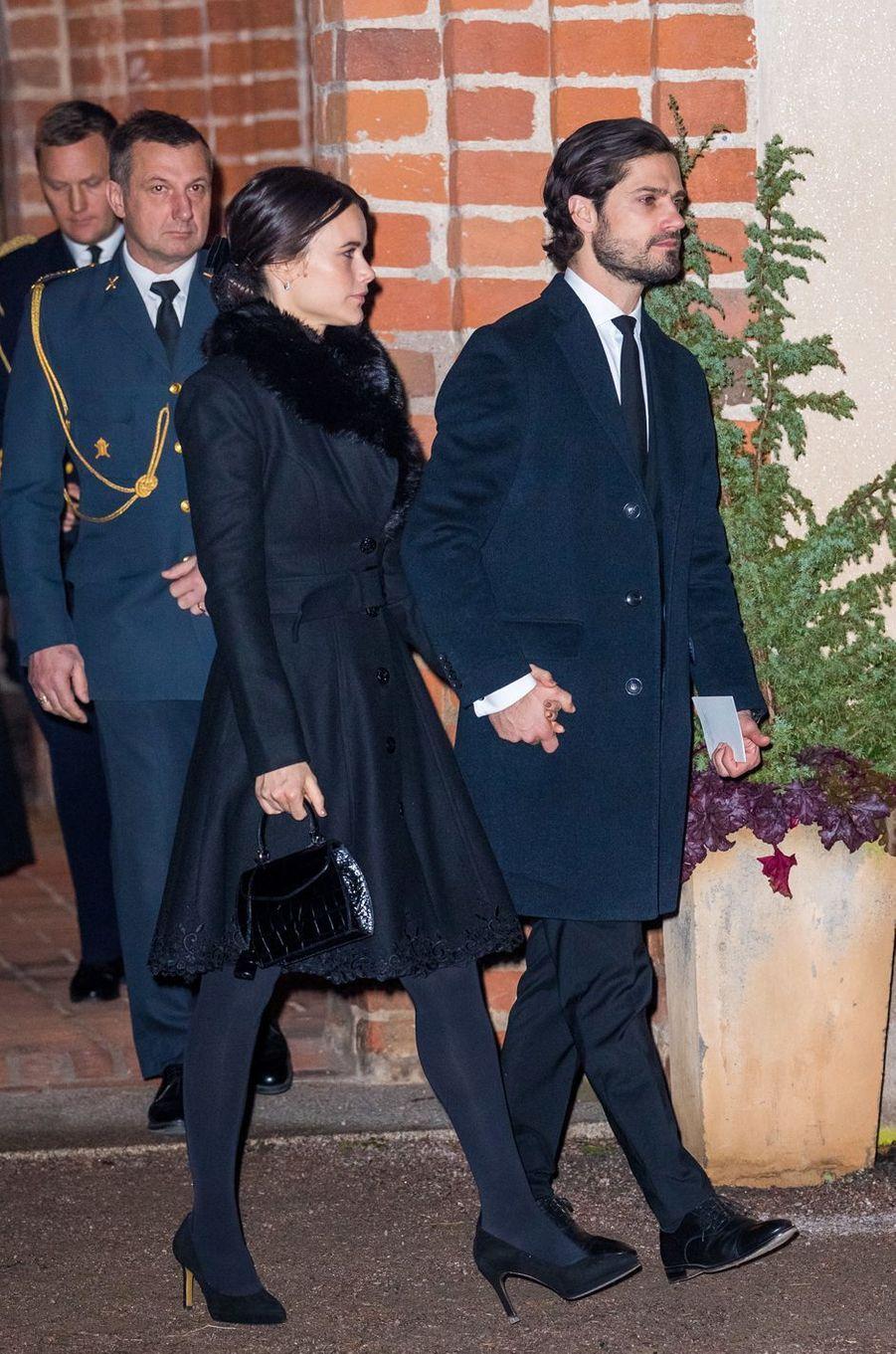 La princesse Sofia et le prince Carl Philip de Suède à Rasbo, le 2 décembre 2018