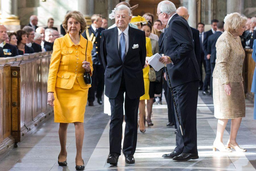 La princesse Désirée de Suède et le baron Niclas Silfverschiöld lors des 70 ans du roi Carl XVI Gustaf, le 30 avril 2016