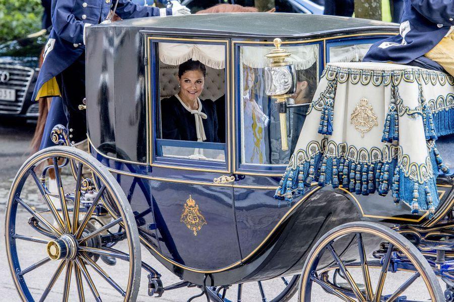 La princesse Victoria de Suède à Stockholm, le 12 septembre 2017