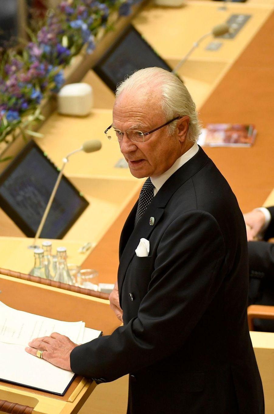 Le roi Carl XVI Gustaf de Suède à Stockholm, le 12 septembre 2017