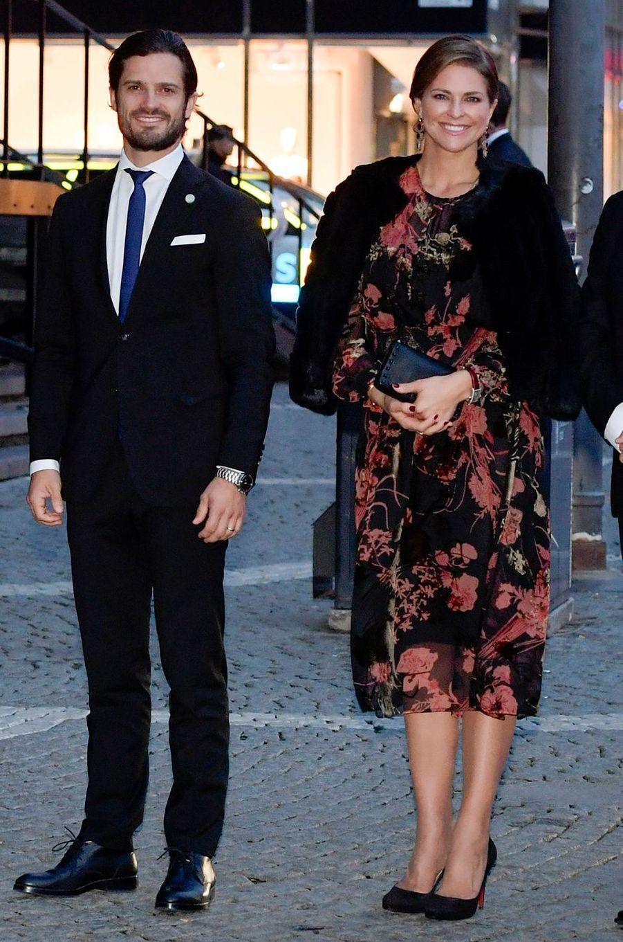 Le prince Carl Philip et la princesse Madeleine de Suède à Stockholm, le 12 septembre 2017