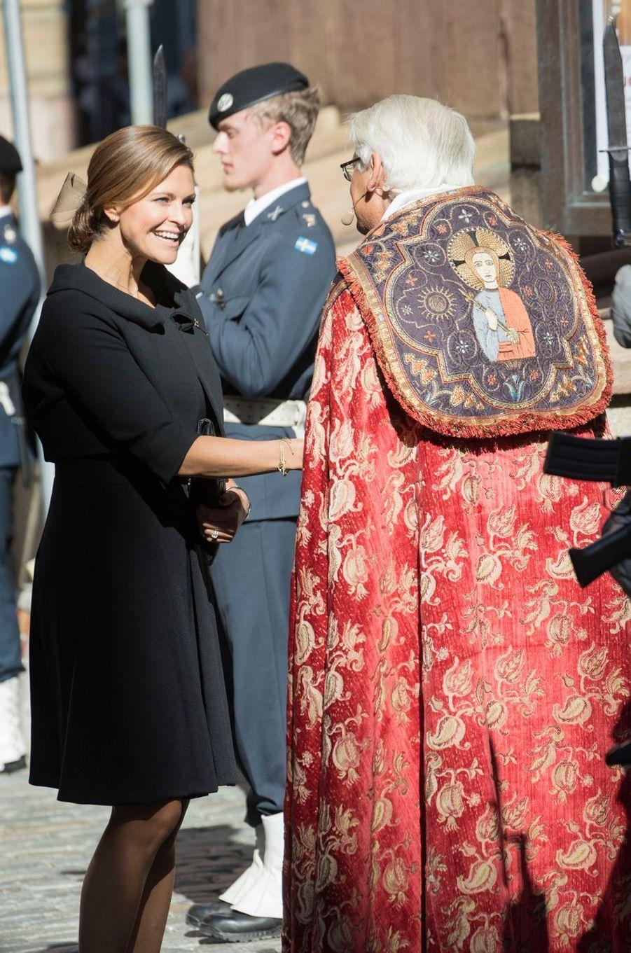 La princesse Madeleine de Suède à Stockholm, le 12 septembre 2017