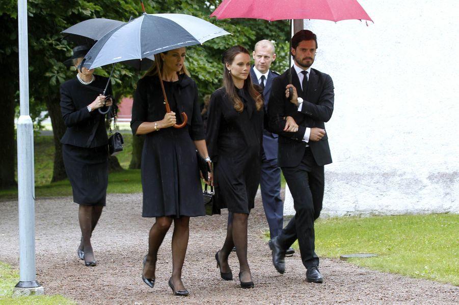 Les princesses Madeleine et Sofia et le prince Carl Philip de Suède à Trolle-Ljungby, le 12 juillet 2017