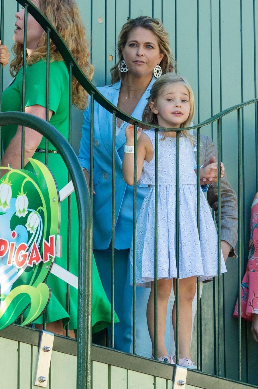 La princesse Madeleine de Suède et sa fille la princesse Leonore à Stockholm, le 27 mai 2018