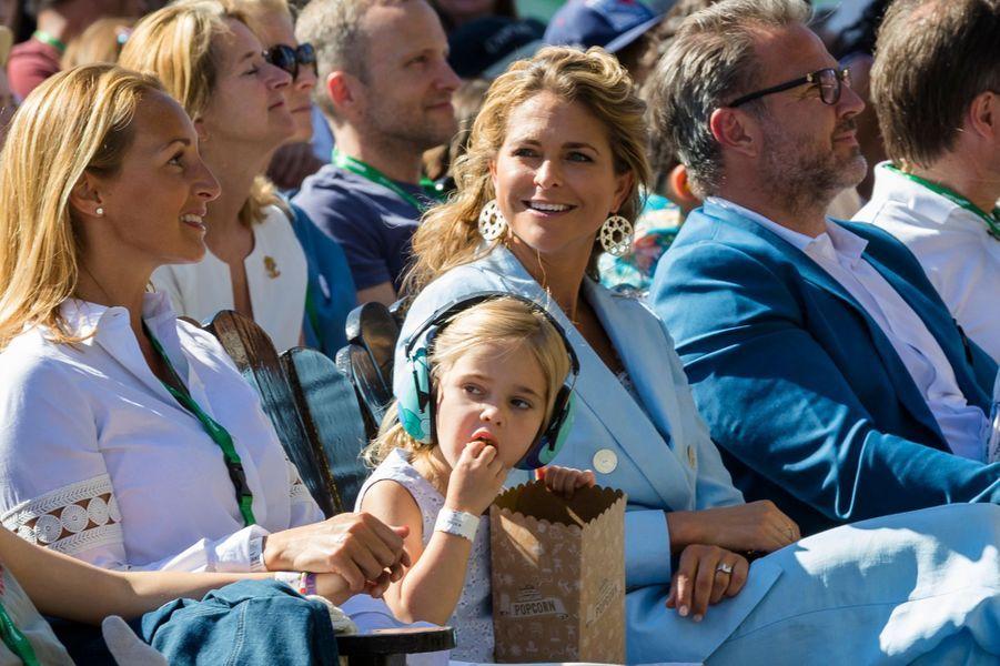 Les princesses Madeleine et Leonore de Suède à Stockholm, le 27 mai 2018