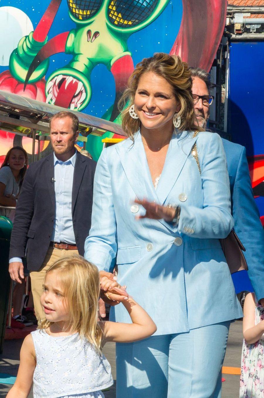 La princesse Madeleine de Suède à Stockholm, le 27 mai 2018