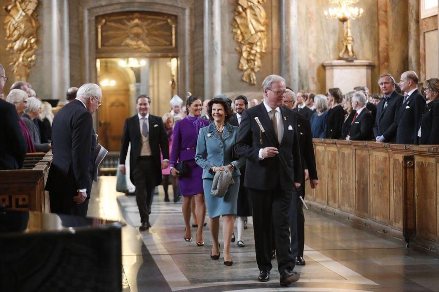 La famille royale de Suède à Stockholm, le 12 mars 2018