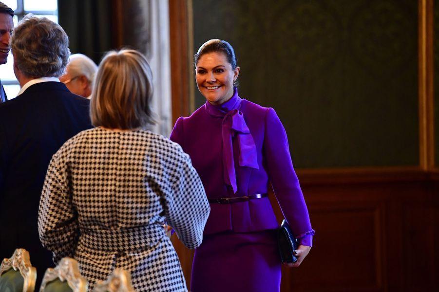 La princesse Victoria de Suède à Stockholm, le 12 mars 2018