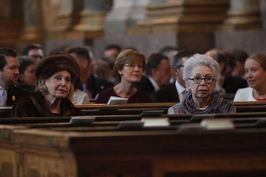 La comtesse Marianne Bernadotte et la princesse Christina de Suède à Stockholm, le 12 mars 2018