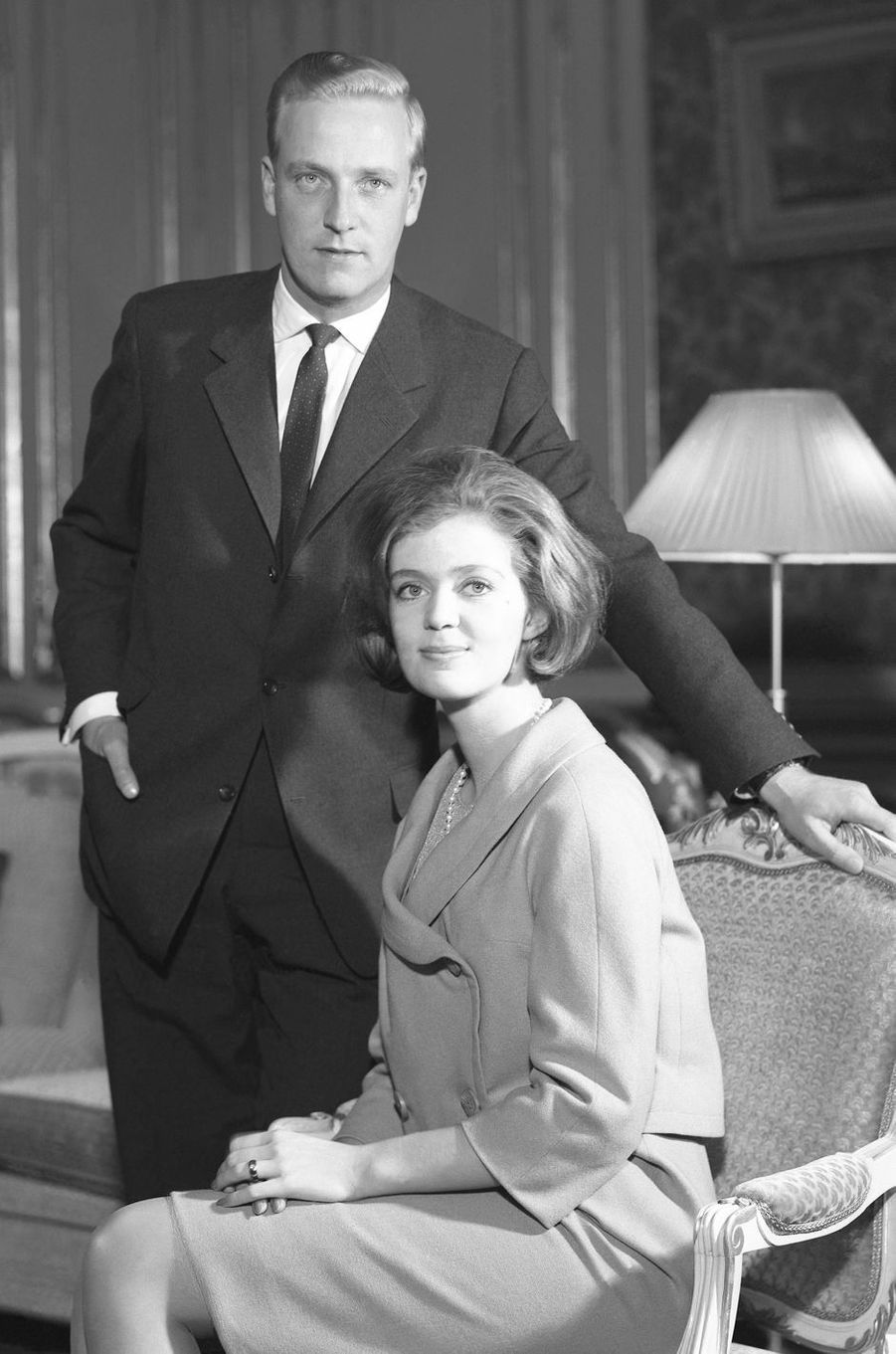 La princesse Birgitta de Suède avec son mari, en 1961