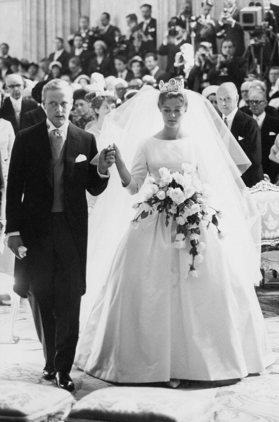 La princesse Birgitta de Suède le jour de son mariage, le 25 mai 1961