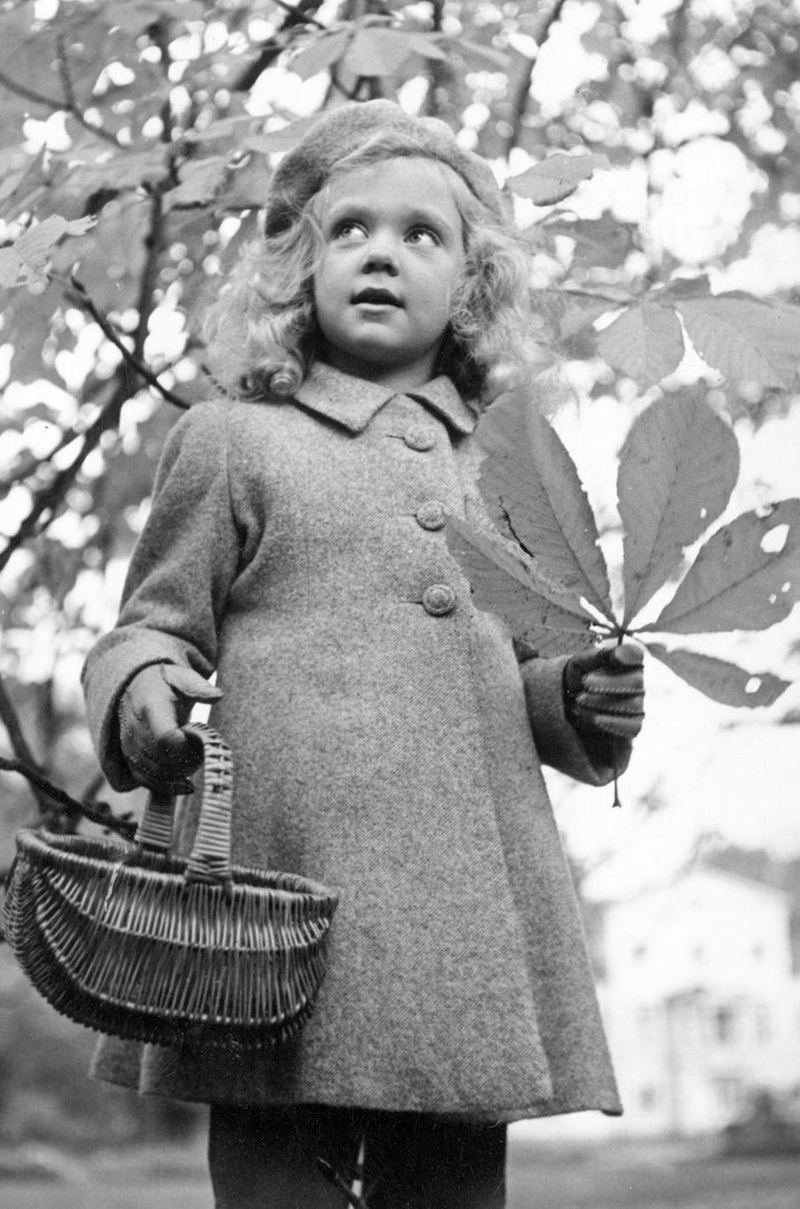 La princesse Birgitta de Suède, en octobre 1942