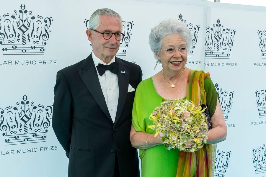 La princesse Christina de Suède avec son mari Tord Magnuson, le 14 juin 2018