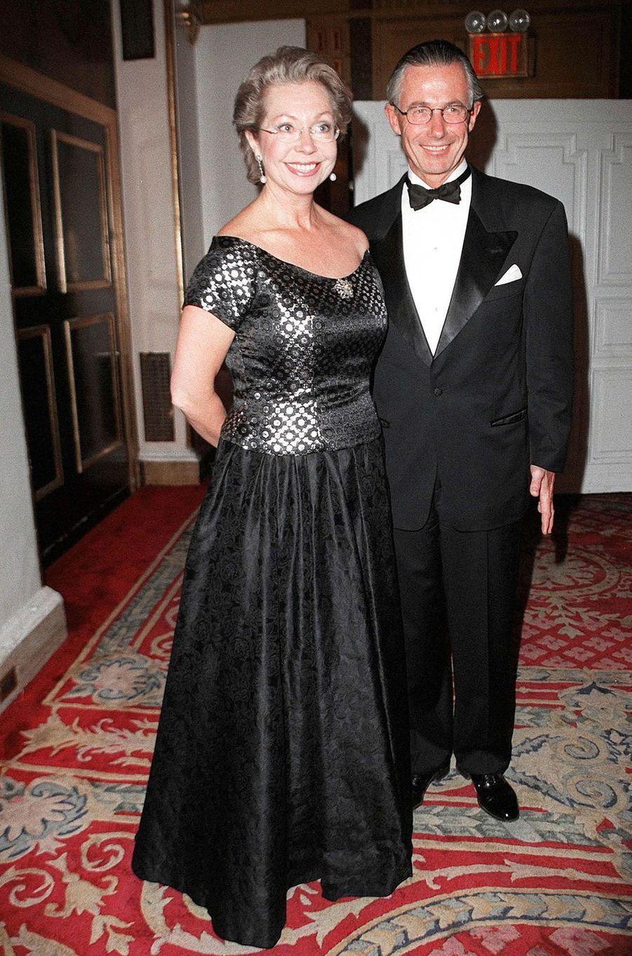 La princesse Christina de Suède avec son mari Tord Magnuson, le 6 octobre 1998