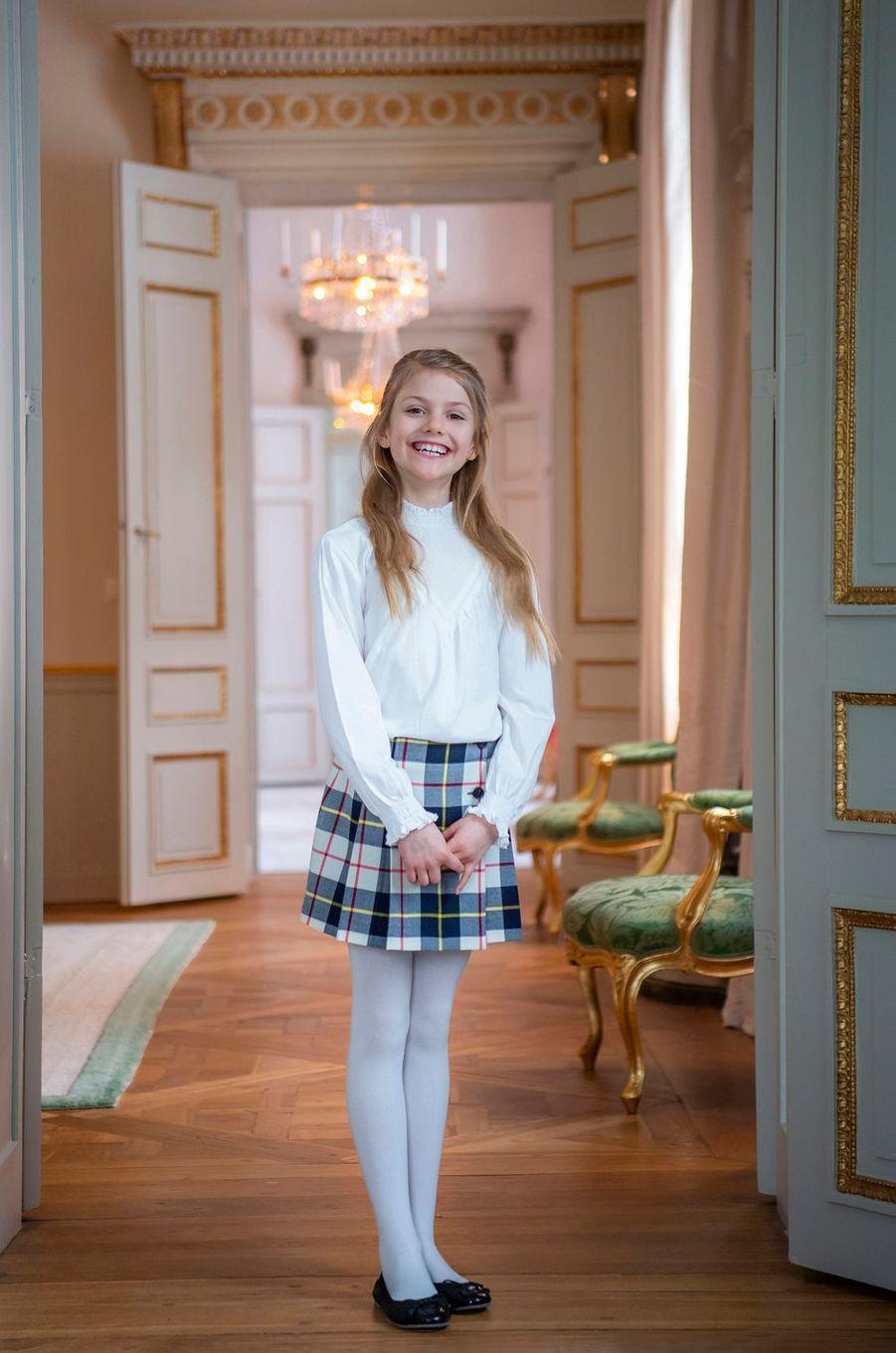 La princesse Estelle de Suède au château de Haga à Solna. Portrait diffusé pour ses 9 ans, le 23 février 2021