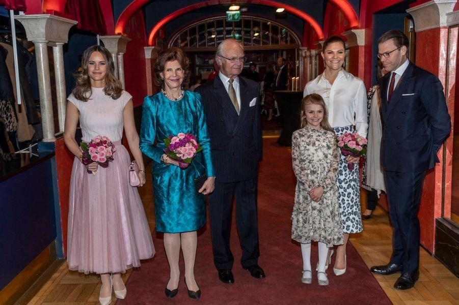 La famille royale de Suède à Stockholm, le 13 février 2020