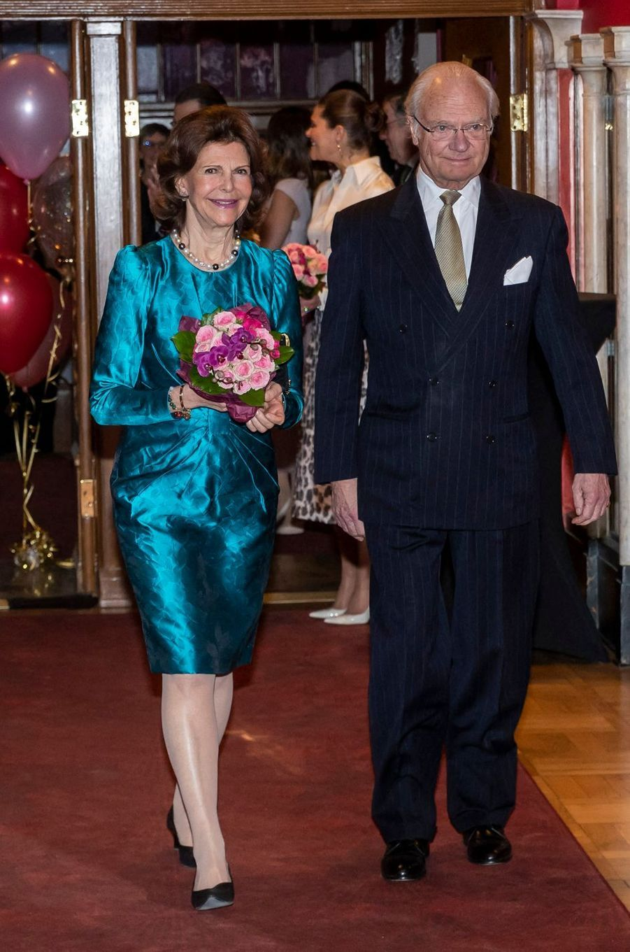 La reine Silvia et le roi Carl XVI Gustaf à Stockholm, le 13 février 2020