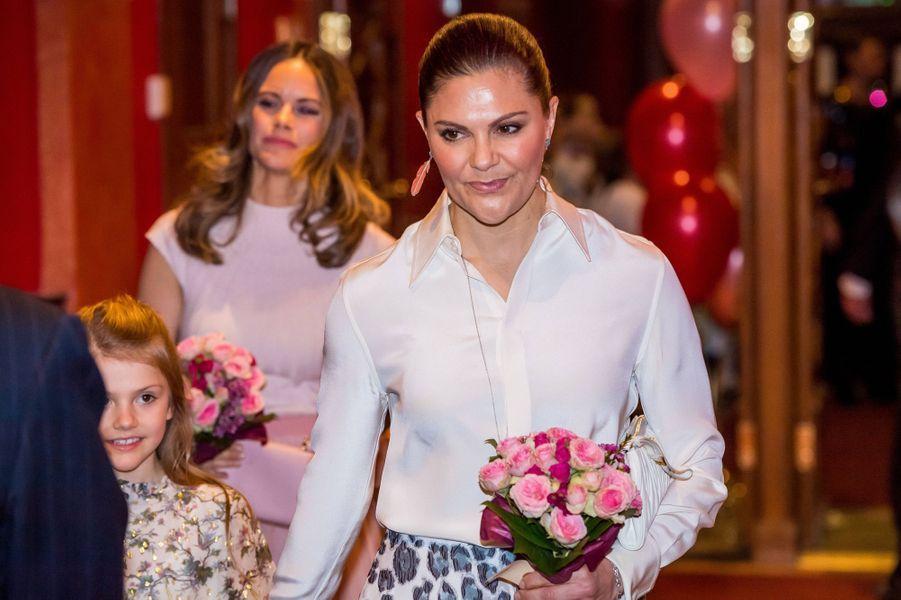 La princesse Victoria de Suède à Stockholm, le 13 février 2020