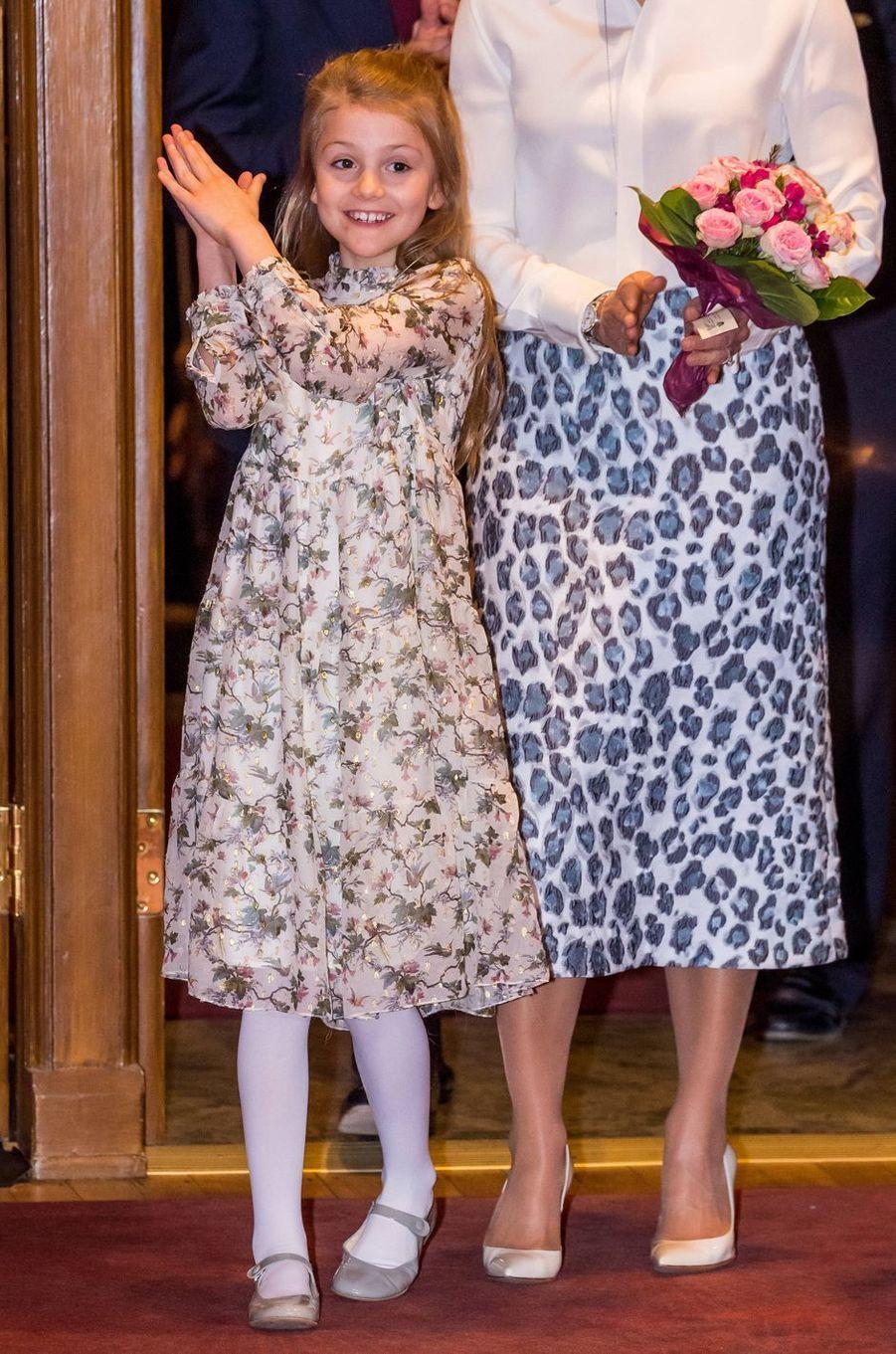 La princesse Estelle de Suède, très élégante, à Stockholm le 13 février 2020