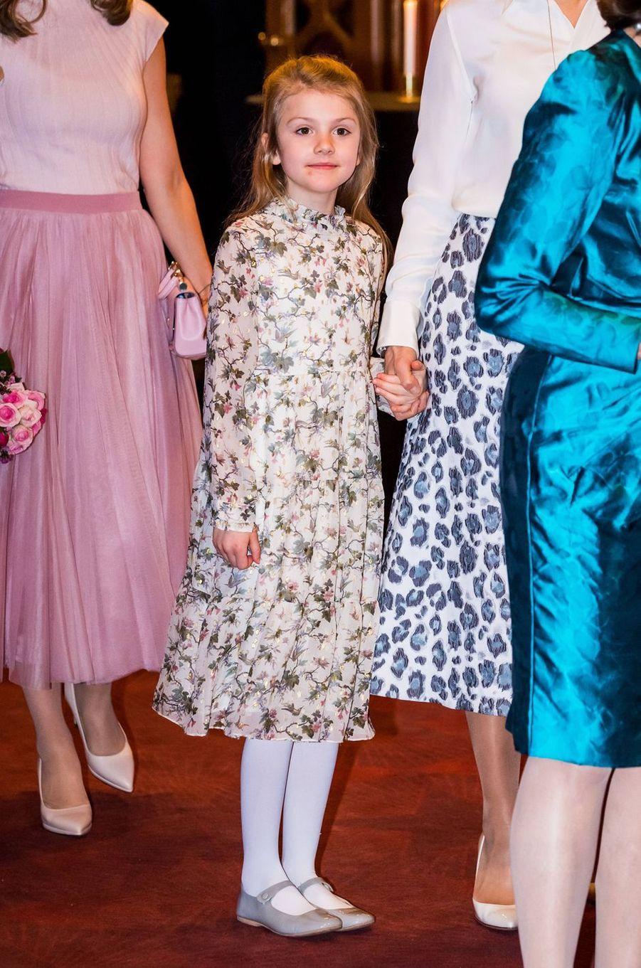 La princesse Estelle de Suède à Stockholm, le 13 février 2020