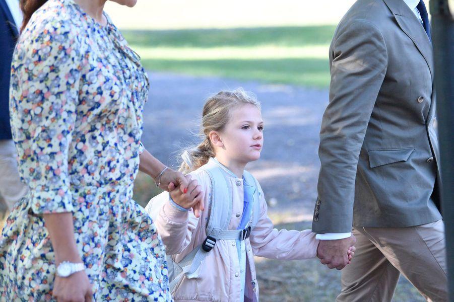 La princesse Estelle de Suède à Stockholm, le 21 août 2018