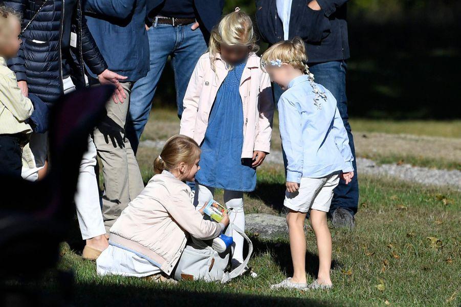 La princesse Estelle de Suède, le 21 août 2018 à Stockholm