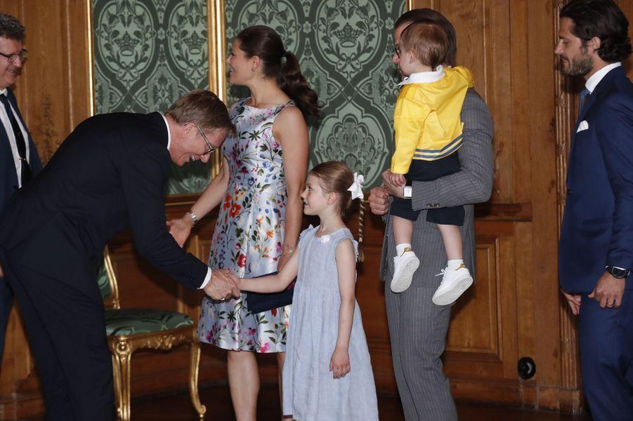 Les princesses Victoria et Estelle et les princes Daniel, Carl Philip et Oscar de Suède à Stockholm, le 21 mai 2018