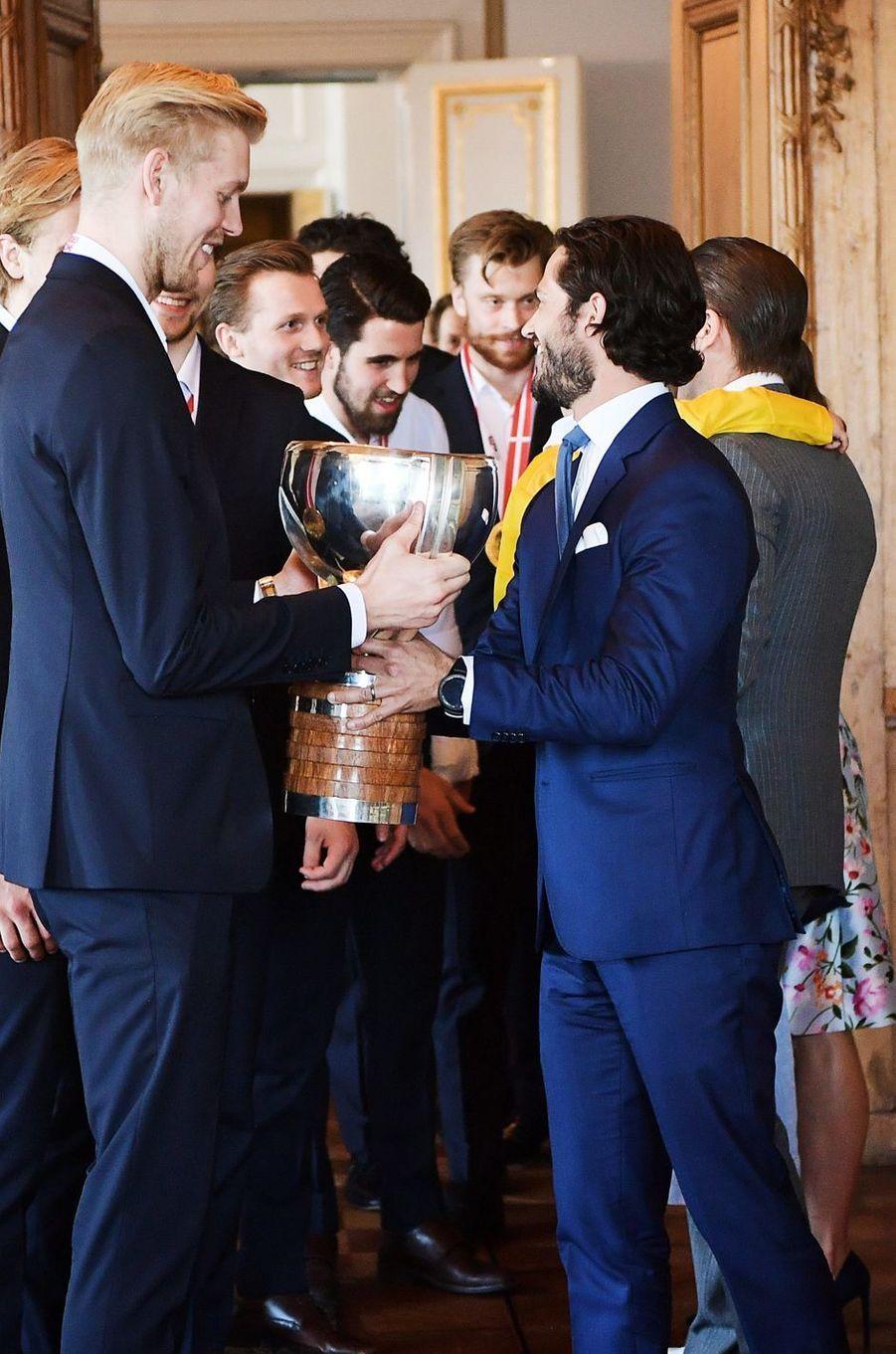 Le prince Carl Philip de Suède à Stockholm, le 21 mai 2018