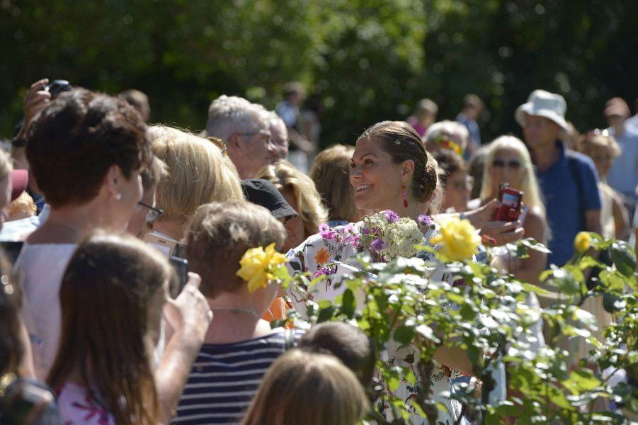 La princesse Victoria de Suède au château de Solliden sur l'île d'Öland, le 14 juillet 2019