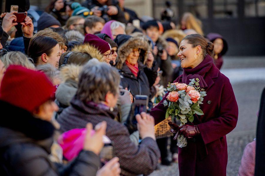 La princesse Victoria de Suède à Stockholm, le 12 mars 2019