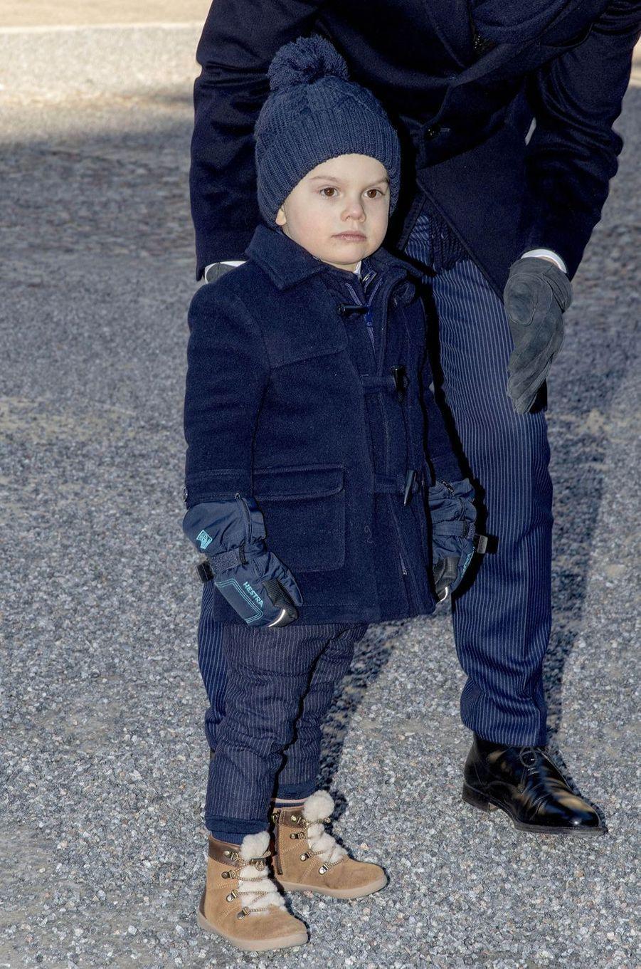 Le prince Oscar de Suède à Stockholm, le 12 mars 2019