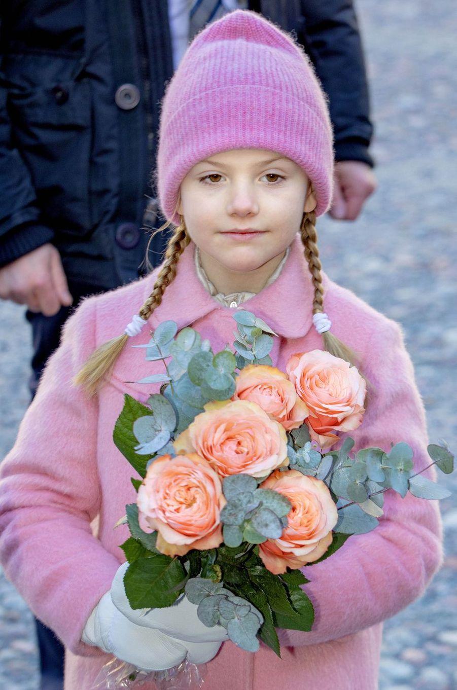 La princesse Estelle de Suède à Stockholm, le 12 mars 2019
