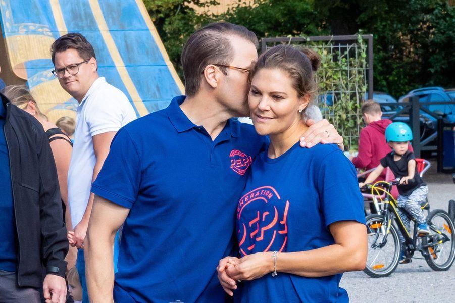 La princesse Victoria et le prince Daniel de Suède à Solna, le 8 septembre 2019