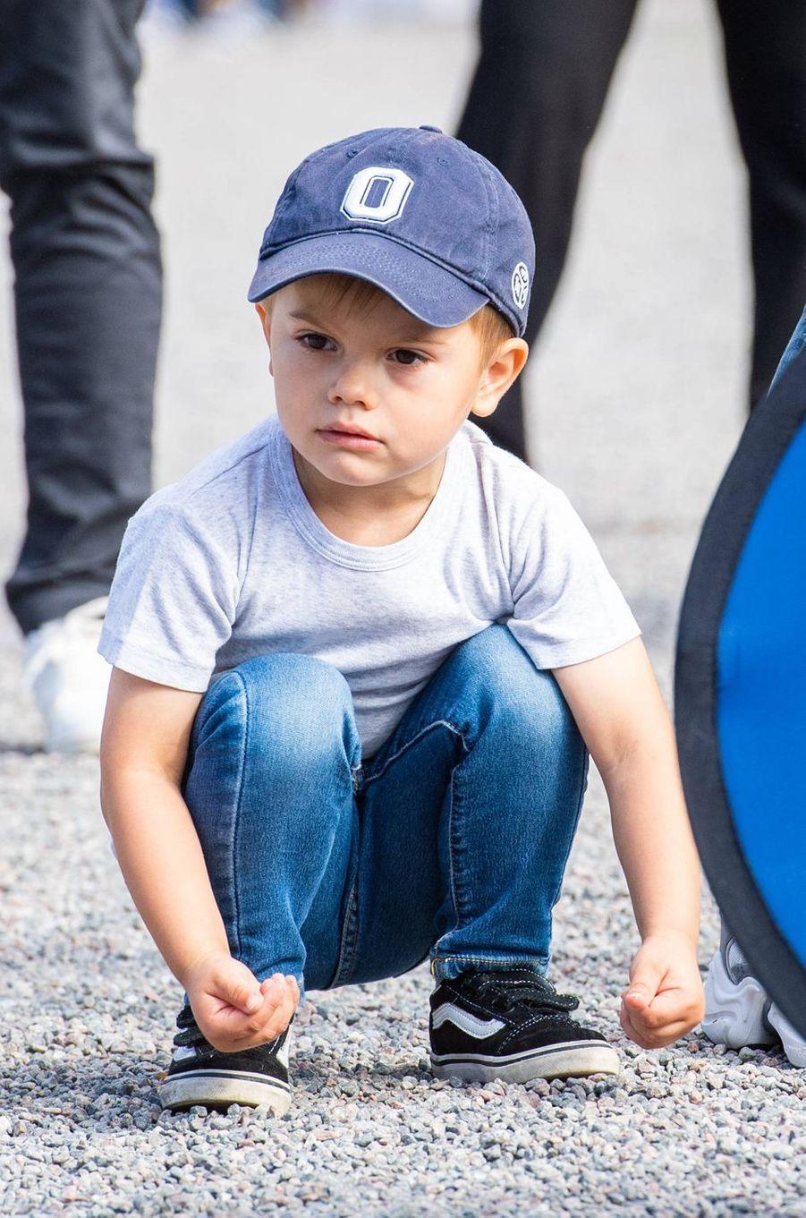 Le prince Oscar de Suède à Solna, le 8 septembre 2019