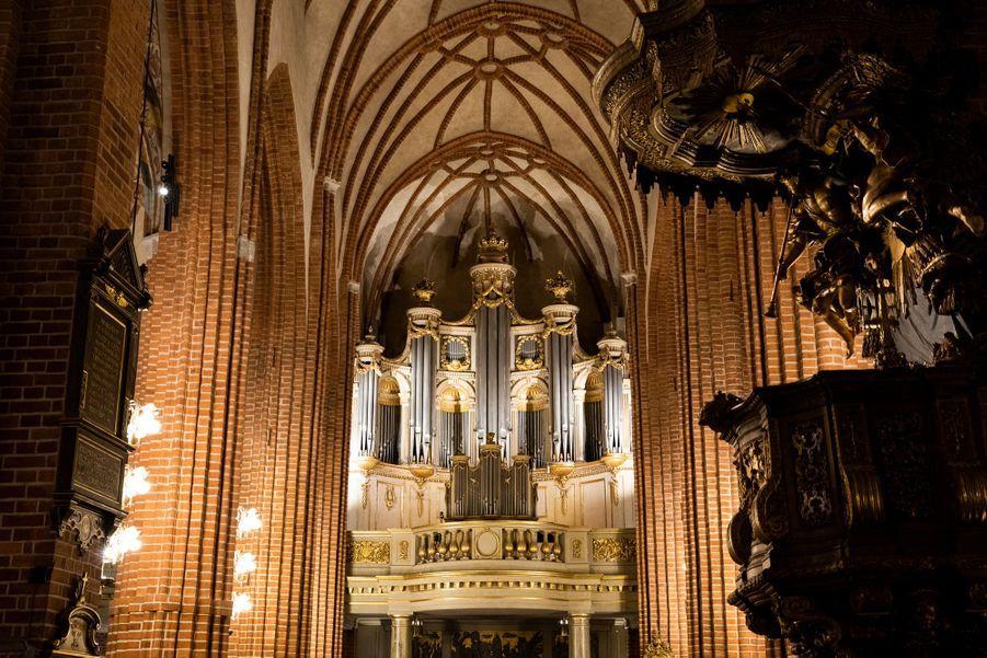 L'orgue de la Storkyrkan, la cathédrale de Stockholm, le 17 février 2020
