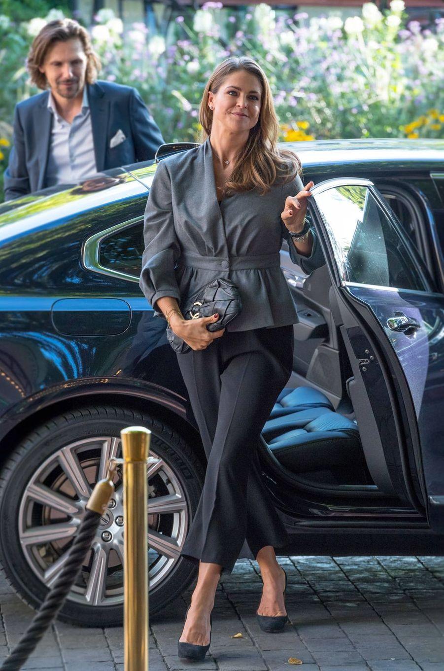 La princesse Madeleine de Suède et son cousin Patrick Sommerlath à Stockholm, le 13 septembre 2017