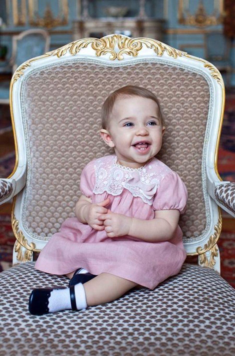 La princesse Leonore de Suède, photo postée par la princesse Madeleine sur sa page Facebook le 20 février 2015