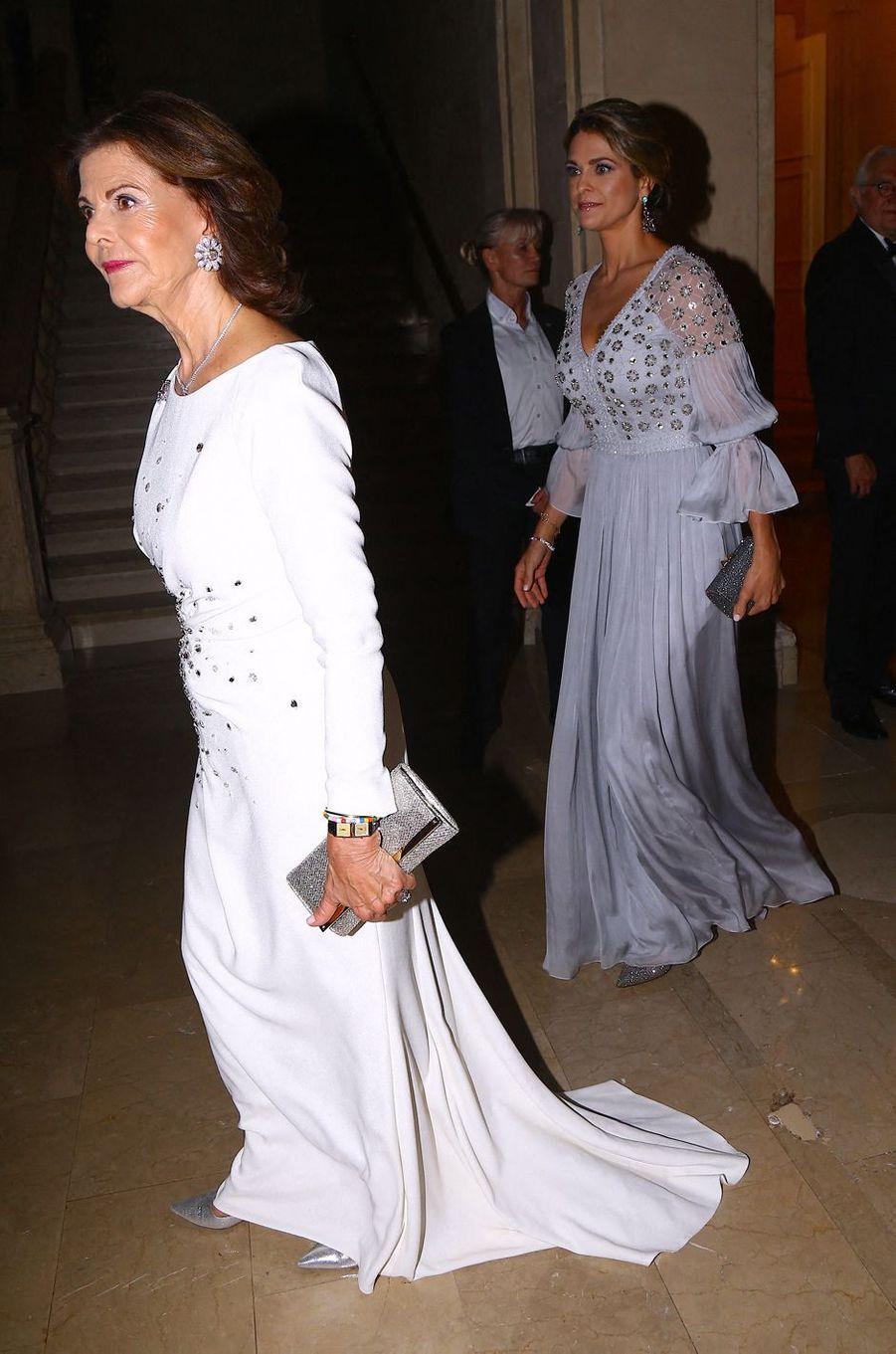 La reine Silvia de Suède et la princesse Madeleine à New York, le 1er octobre 2019