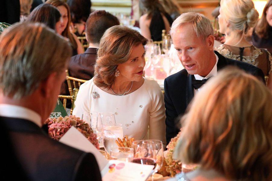 La reine Silvia de Suède à New York, le 1er octobre 2019