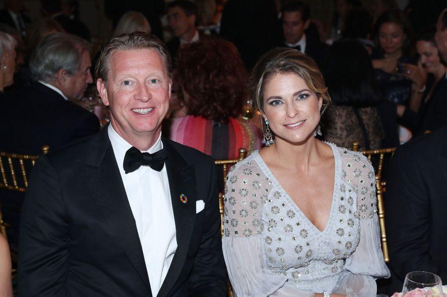 La princesse Madeleine de Suède à New York, le 1er octobre 2019