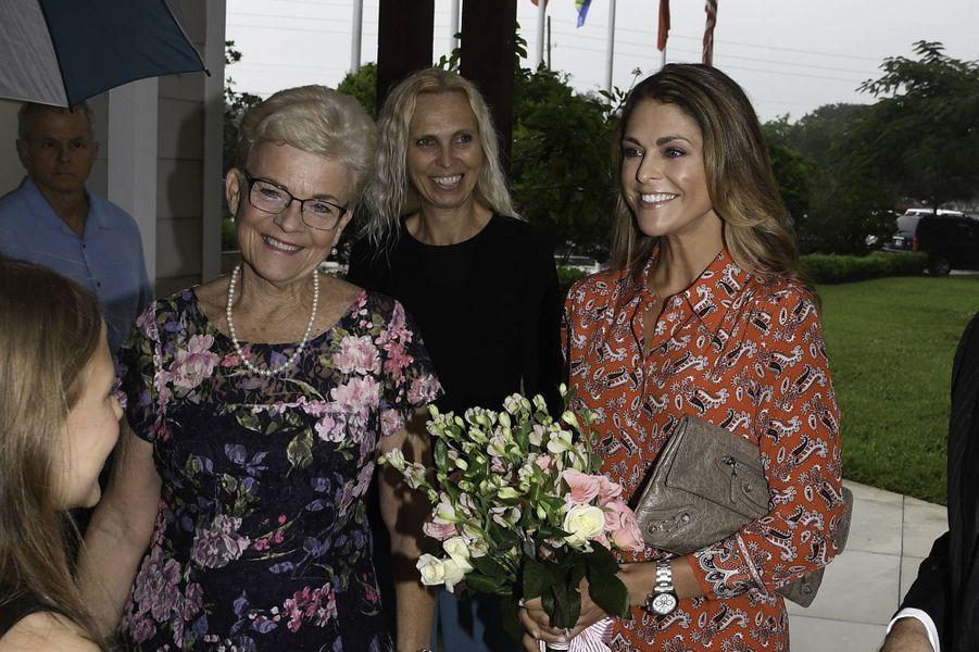 La princesse Madeleine de Suède à Fort Lauderdale, le 3 novembre 2019