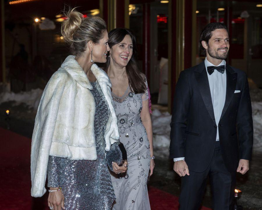 Le prince Carl Philip et la princesse Madeleine de Suède à Stockholm, le 7 février 2019