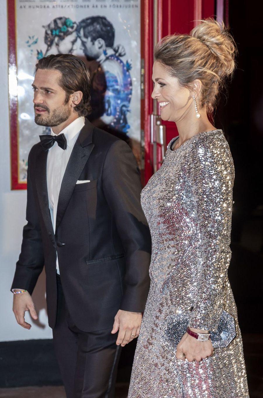 La princesse Madeleine et le prince Carl Philip de Suède à Stockholm, le 7 février 2019
