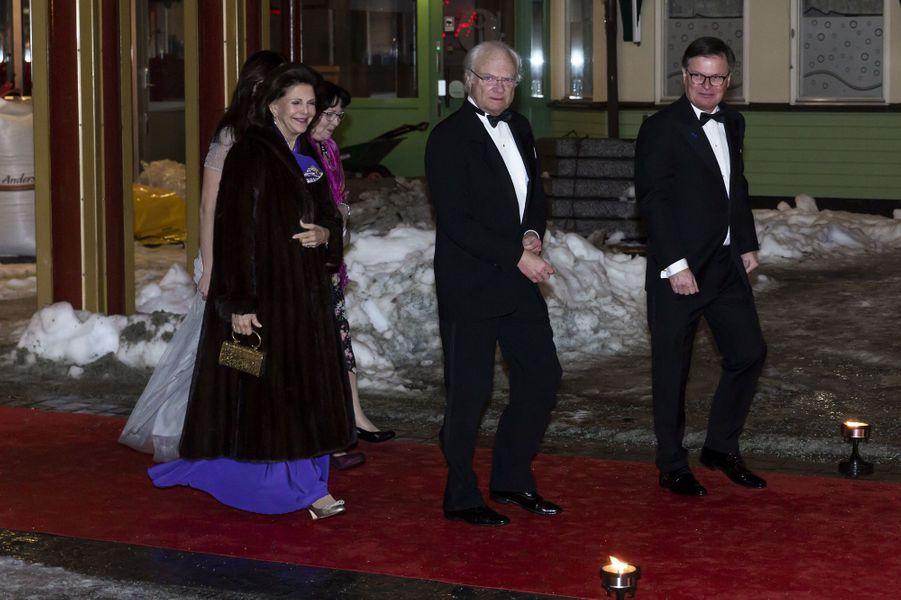 La reine Silvia et le roi Carl XVI Gustaf de Suède à Stockholm, le 7 février 2019