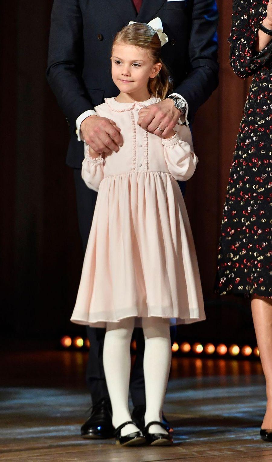 La princesse Estelle de Suède à Stockholm, le 18 décembre 2018