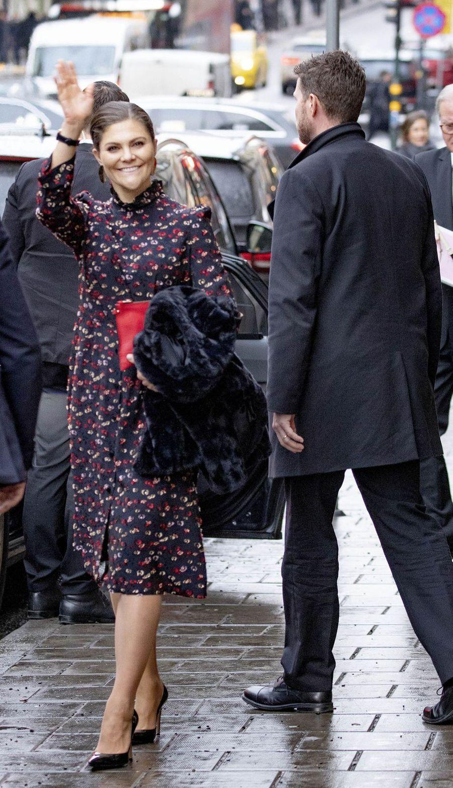 La princesse Victoria de Suède à Stockholm, le 18 décembre 2018