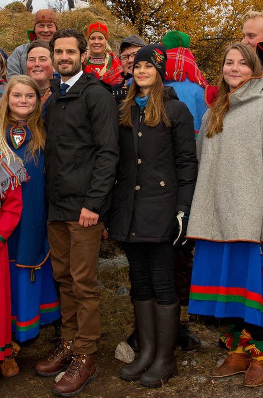 La princesse Sofia et le prince Carl Philip de Suède à Idre, le 6 octobre 2015