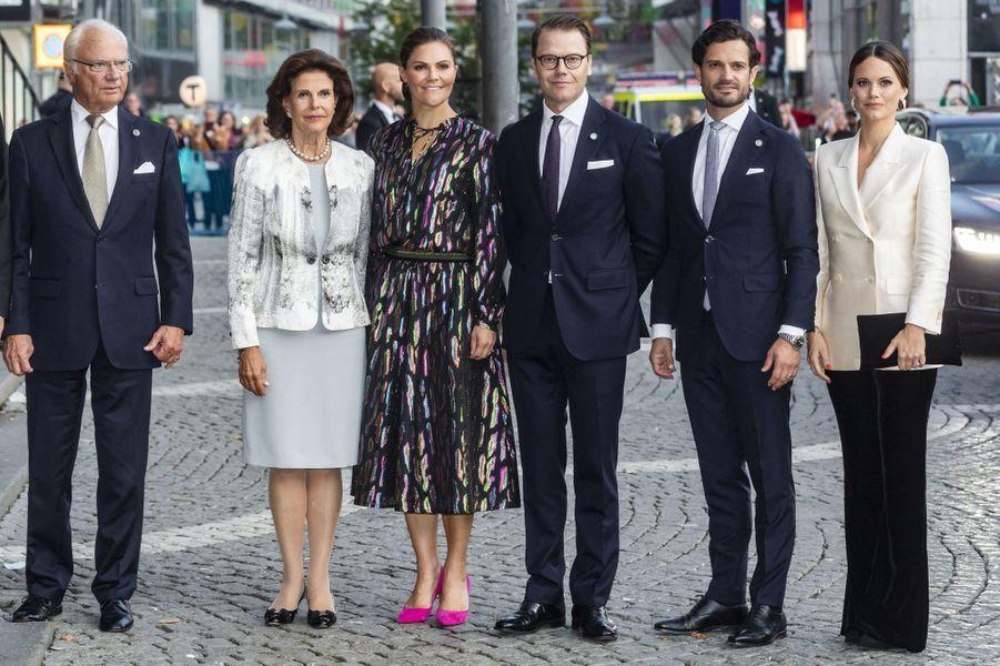 La famille royale de Suède à Stockholm, le 10 septembre 2019
