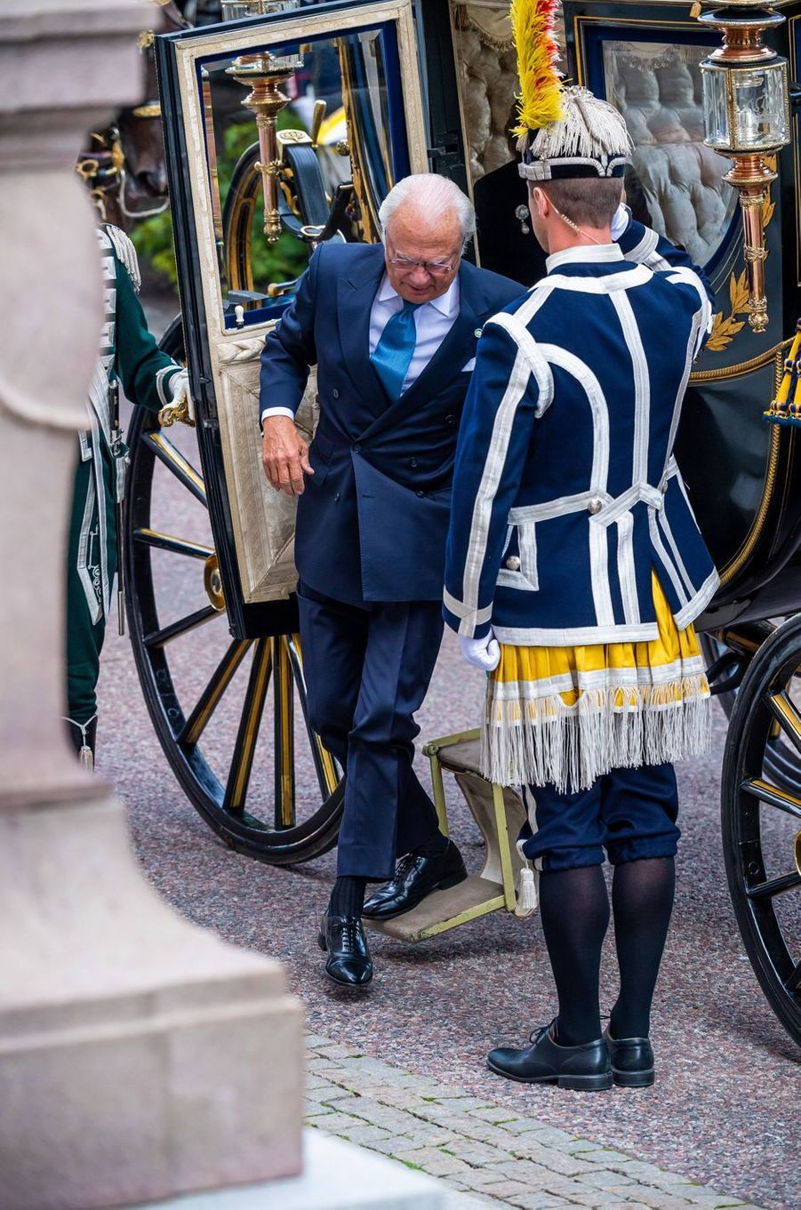 Le roi Carl XVI Gustaf de Suède à Stockholm, le 10 septembre 2019